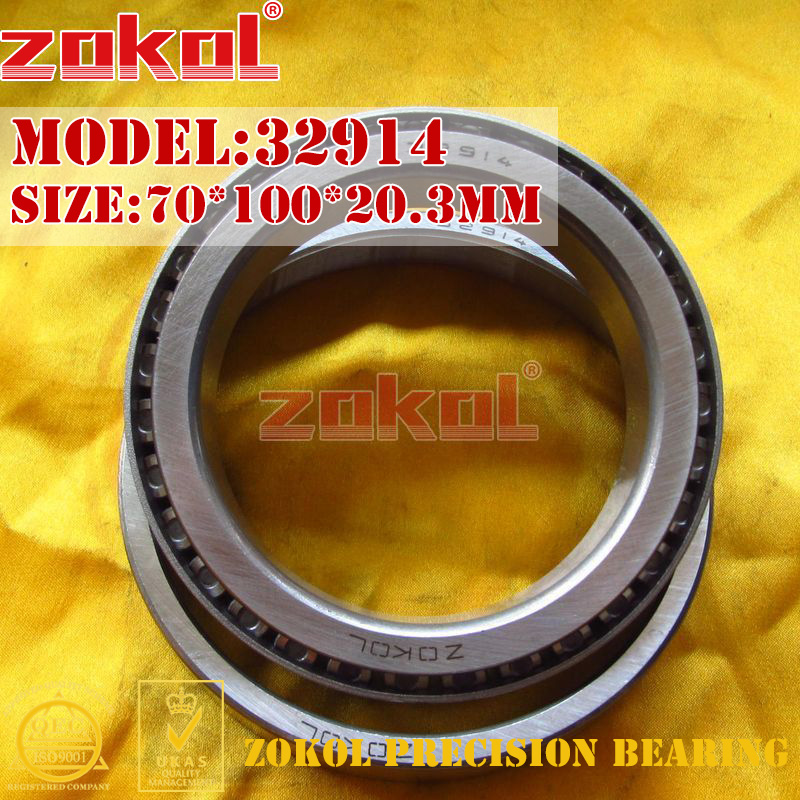 ZOKOL bearing 32914 2007914E Tapered Roller Bearing 70*100*20.3mm na4910 heavy duty needle roller bearing entity needle bearing with inner ring 4524910 size 50 72 22