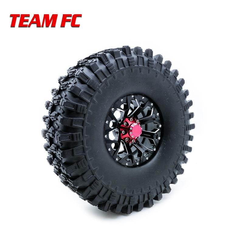 4Pcs 1.9 Inch 110mm 1/10 Rock Crawler Tires with Alloy Beadlock Wheel Rim for 1/10 RC Crawler Axial SCX10 90046 RC Car Parts S64Pcs 1.9 Inch 110mm 1/10 Rock Crawler Tires with Alloy Beadlock Wheel Rim for 1/10 RC Crawler Axial SCX10 90046 RC Car Parts S6