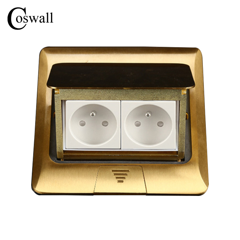 Manufacturer All Copper Panel French Standard Pop Up Floor Socket 2 Way Electrical Outlet manufacturer all aluminum panel uk standard pop up floor socket single power outlet rj45 audio 10 pcs set