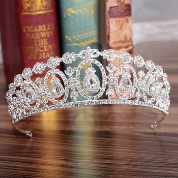 KMVEXO Fashion Crystal Wedding Bridal Tiara Kroon Voor Vrouwen Prom Diadeem Haar Ornamenten Bruiloft Bruid Haar Sieraden Accessoires