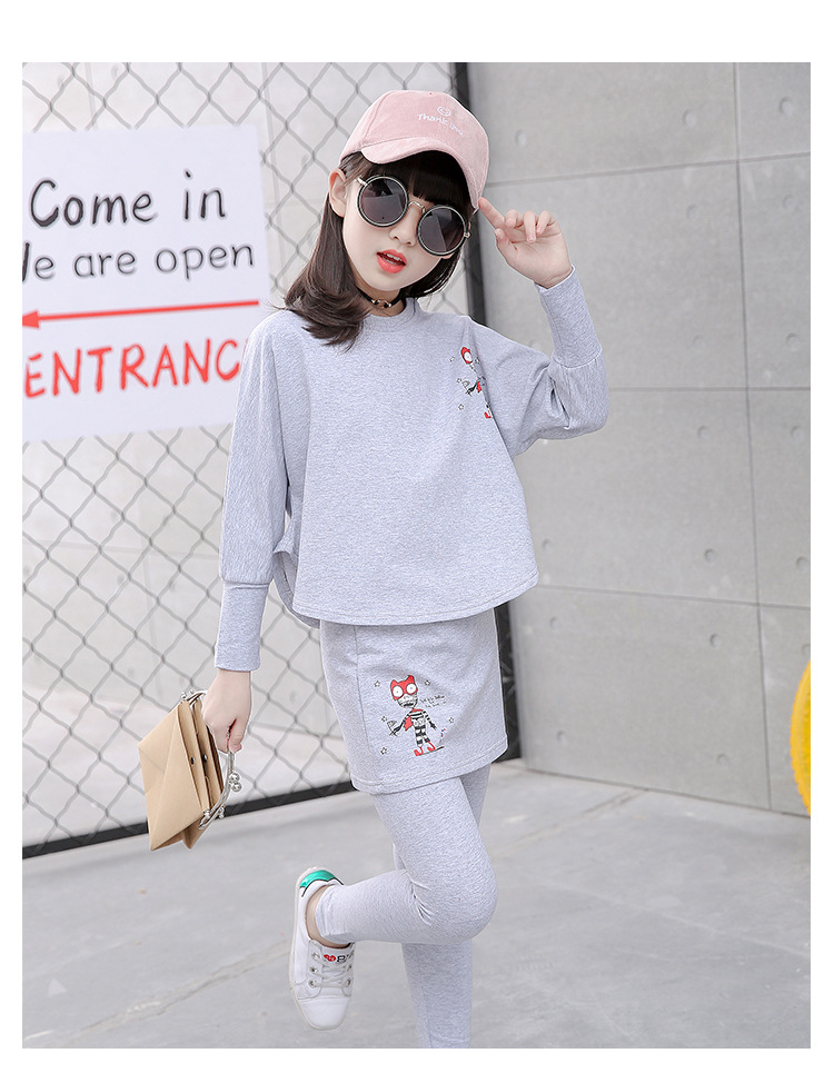 HTB16IOISFXXXXXbXFXXq6xXFXXXW - 2017 Baby Clothing Set Autumn Baby Girls Clothes Long Sleeve T-Shirt+Pants 2Pcs Suits Cartoon Children Spring Solid 6-15T O-Neck