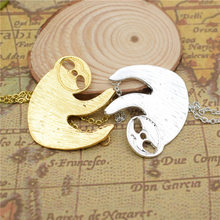 LPHZQH wholesale cute Sloth necklace for women collars Jewelry choker necklace charm accessory gift punk gold color silver color