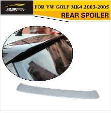 Стайлинга автомобилей углеродного волокна задний крыша крылья спойлера ДЛЯ VW Golf MK4 1998-2005