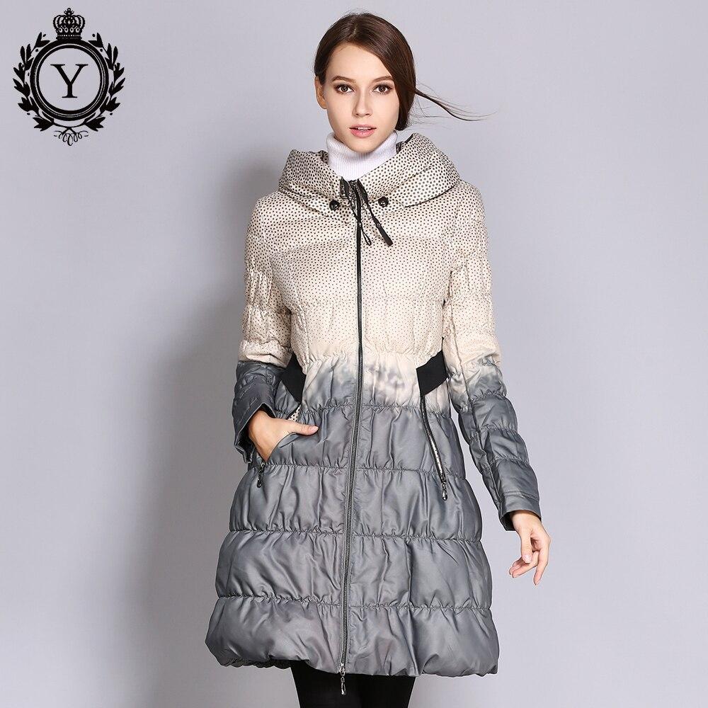 COUTUDI 2017 invierno más tamaño mujeres abrigo Parkas mujer largo pato abajo chaqueta acolchada Color de alta calidad de las mujeres ropa