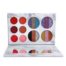 Professional Eyeshadow Palette Glitter Shimmer Diamond Makeup Palette Matte Eye shadow Palette Maquillage Cosmetic Eye Palette qibest 9 colors eyeshadow palette glitter eyes palette matte pigment cocktail eye shadow pallete makeup eyes palette cosmetic
