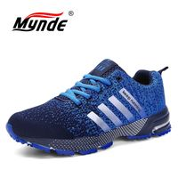 MYNDE 2018 New Trend Running Shoes Mens Sneakers Breathable Air Mesh Shoes Eva Athletic Sapatos Women