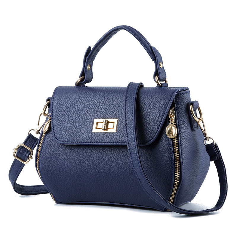 цены  New trend Lady bags Korean fashion Multi-zipper Pu leather turn lock Shoulder Messenger bag