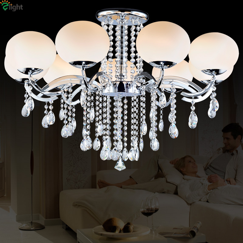 Chandeliers Shop For Cheap Europe Lustre Crystal Led Chandeliers Luminarias Novelty Chrome Metal Glass Living Room Led Chandelier Lighting Lights Fixtures
