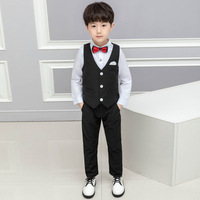 LUOBOBEIBEI Children Costume For A Baby Boys Performance Clothing Suits Kids Blazer White Suit For Boy Child Clothes