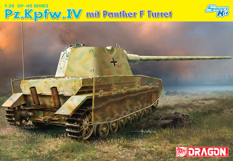 ФОТО Dragon 1:35 6824 Pz.Kpfw.IV mit Panther F Turret