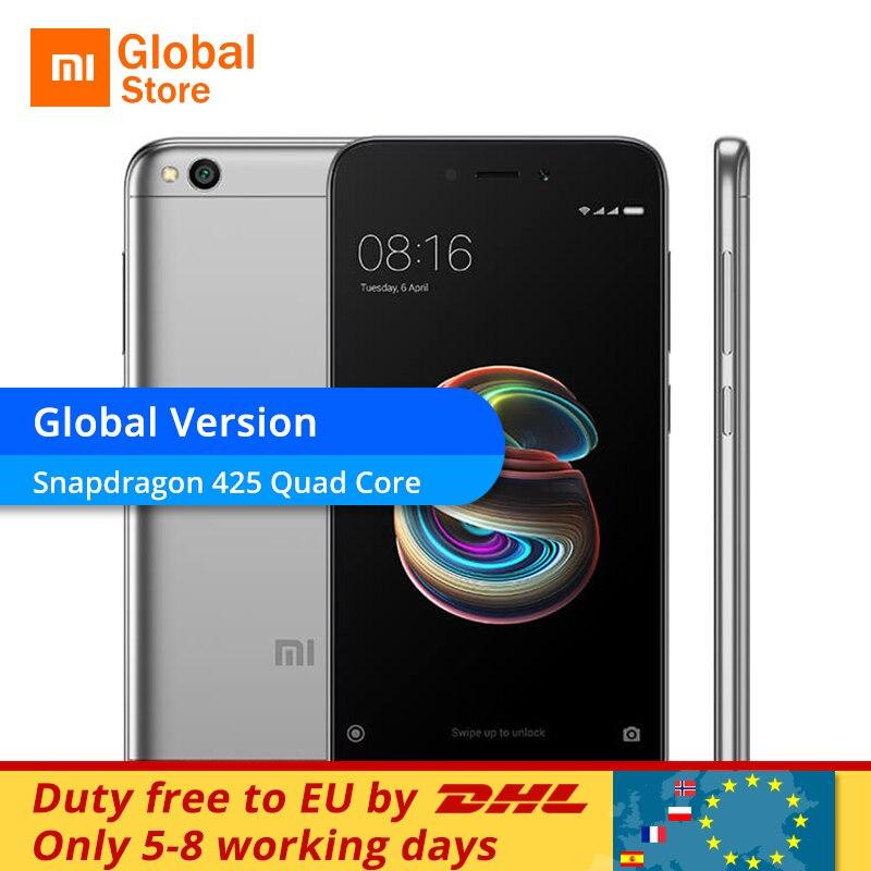 """Глобальная версия Xiaomi Redmi 5A 5 2 ГБ Оперативная память 16 ГБ Встроенная память мобильного телефона Snapdragon 425 4 ядра 5.0"""" 13.0mp Камера 3000 мАч"""