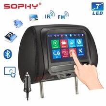 Новинка! 7 дюймов Автомобильный подголовник монитор мультимедийный плеер Подушка монитор Bluetooth MP4 MP5 сенсорный экран панель SH7068-P5