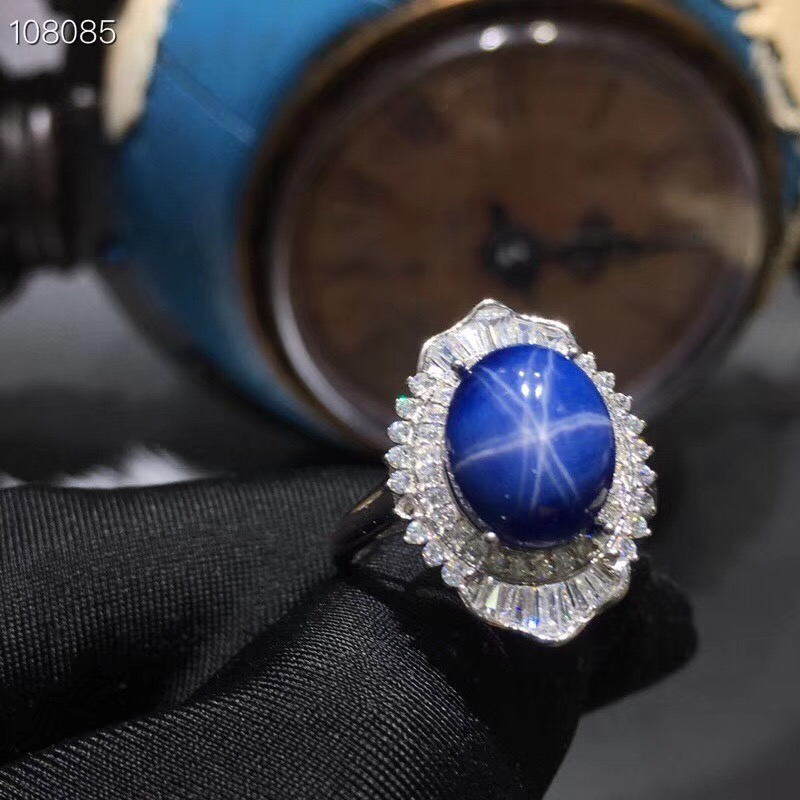 Sapphire Ring Star Sapphire Certificate of Authenticity 925 Silver Custom Size Gemstone 5 Carats