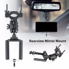 Auto Car Phone Holder 360 Degrees GPS Smartphone Stand Rearview Mirror Mount Universal For All Phones Bracket