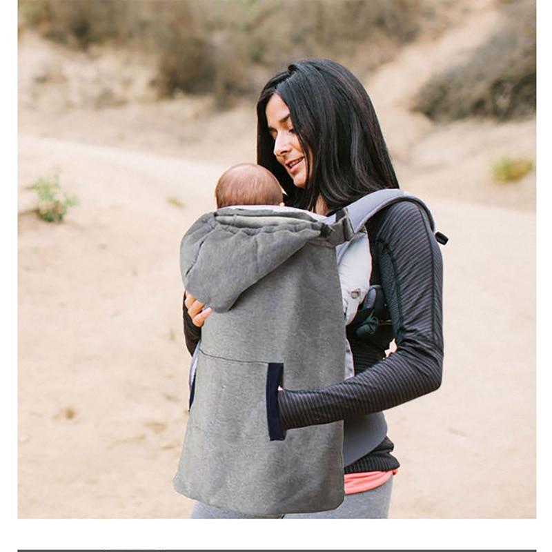Baby Carrier Cover Infant  Velvet Coat For Sling Wrap Baby Carrier Backpack Hooded Cloak For Winter Baby Suspenders