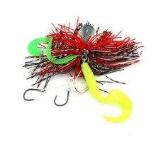 New 4pcs 20g Jigs metal lead head Bait buzzbaits soft plastic fishing lures octopus squid hook sea pike fishing tackle(JI007)