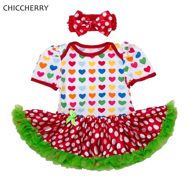 Amor 1 Año Niña de Cumpleaños Vestido de Encaje Tutu 2 unids Diadema Conjunto Niño Vestido de San Valentín Conjunto Infantil Menina Chica ropa