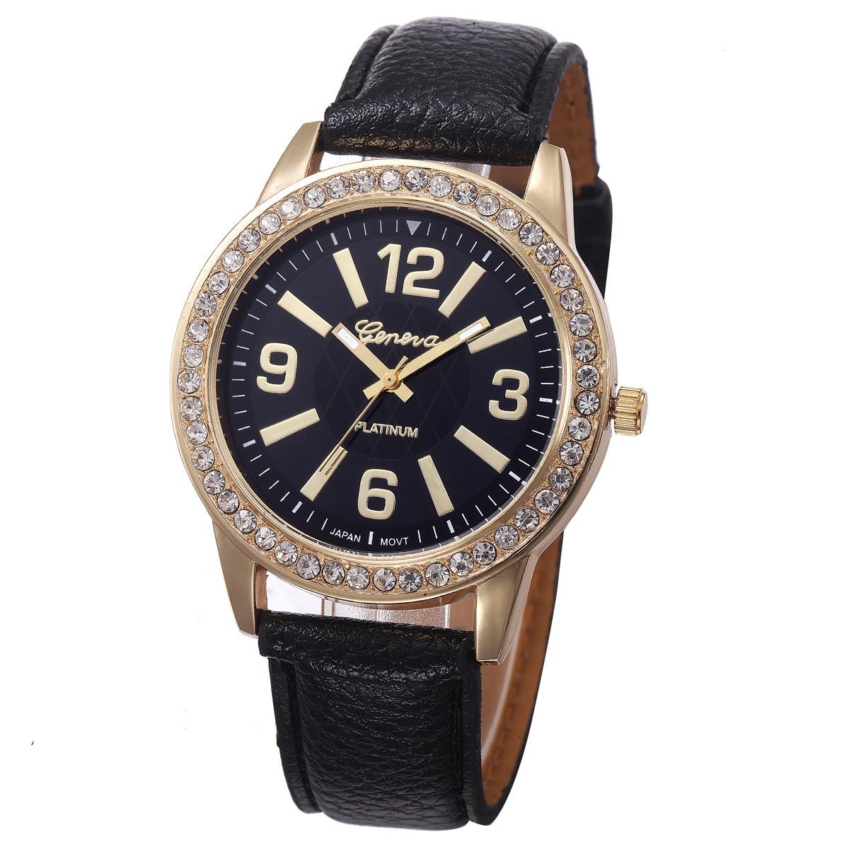 Ladies Women's Watch Crystal Inlay Quartz WristWatch relogio feminino reloj mujer zegarek damski montre femme часы жнские saat