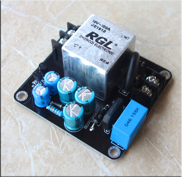 breeze audi High power 100A high current RGL relay power Soft start board Suitable for Class A amplifier finished image