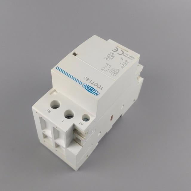 TOCT1 2P 63A 1NC 1NO 220V/230V 50/60HZ Din rail Household ac Modular contactor