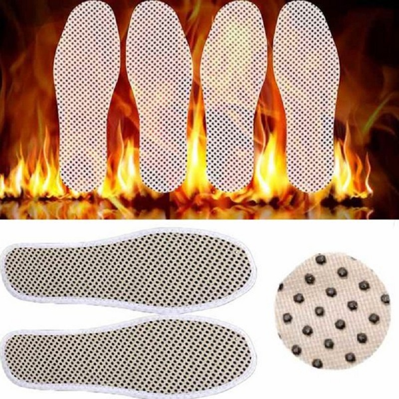 1 Pair Tourmaline Self Heated Insoles Heating Magnetic Foot Massage Insole Far Infrared Warm Shoe Pad Infrared Rays Foot Cushion