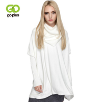 GOPLUS 2019 Spring Turtleneck Knitted Sweater Women Sexy Batwing Sleeve Sweater Lady Elegant Befree Casual Pullovers Female Tops