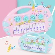 Пианино игрушечные музыкальные инструменты для обучение маленьких детей Детское пианино животных звук музыки Форма познание вечерние игрушка в подарок на день рождения