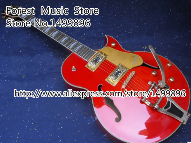 Cheap High-quality Classic G6120 Brick Red Guitar Electrica with Bigsby One Piece Neck Available