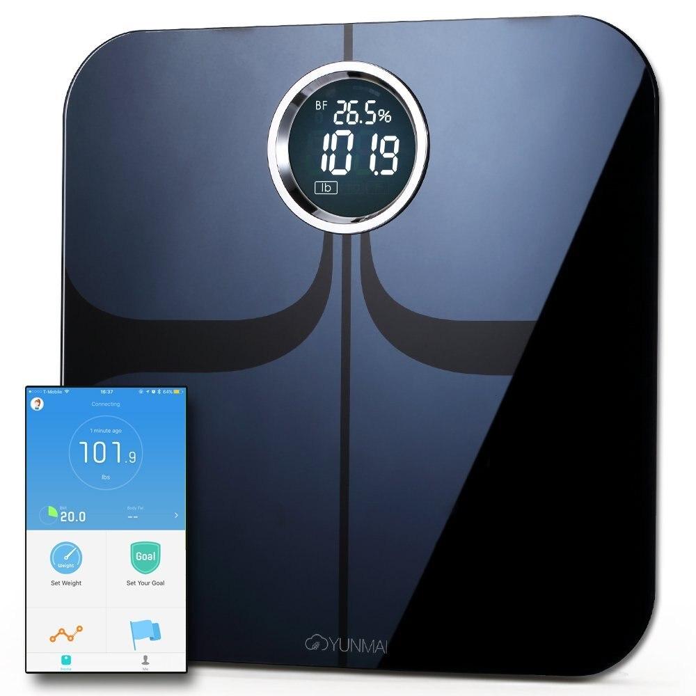 [Versione internazionale] Xiaomi Mijia Yunmai Premium Smart-Scale Scala di Grasso Corporeo con APP di Fitness & Composizione Corporea Monitor