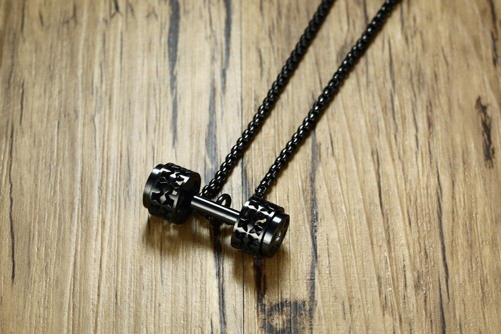 Купить модное мужское ожерелье с гантелями кулоны высокого качества