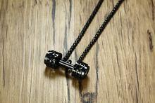 Модное мужское ожерелье с гантелями кулоны высокого качества