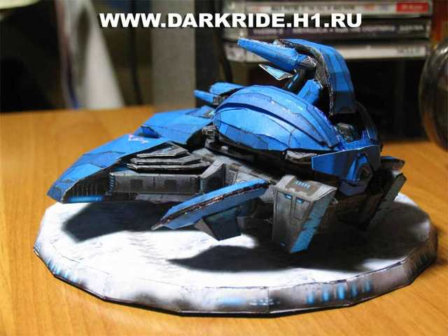 3D Paper Model Game Halo Shadow Fighter DIY Handmade Toy-in Model