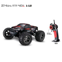 Remote 80 m Built-in rechargeable battery 35+MPH 1/12 Scale RC Car 2.4Ghz 2WD High Speed Remote Controlled TRACK Red Blue