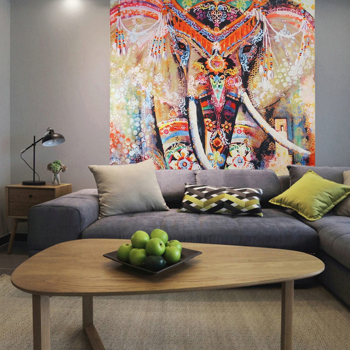 Elephant Mandala Tapestry Throw Towel Hippie Tapestry Floral Printed Home Decor Wall Tapestries Bedspread 210*150CM 6