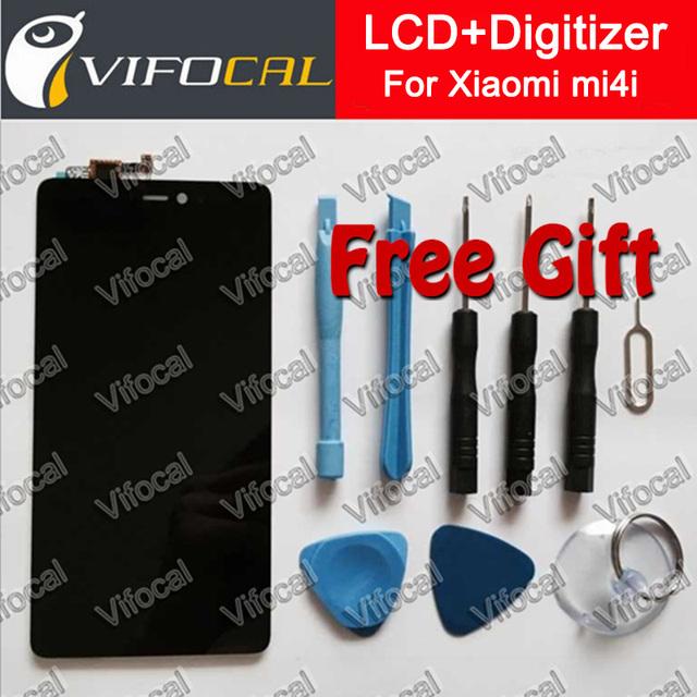 Para xiaomi mi4i display lcd + touch screen + ferramentas 100% nova substituição digitador assembléia para mi 4i free cell-phone grátis