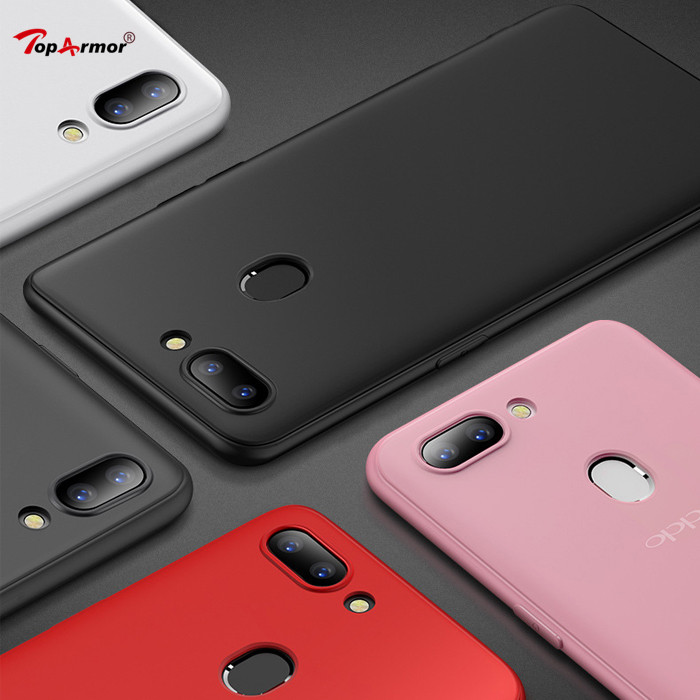 Matte Soft TPU Silicone Frosted Cover For <font><b>Oppo</b></font> F3 F9 <font><b>Pro</b></font> A7x R9 R9S <font><b>R11</b></font> R11S Plus R15 R17 <font><b>Pro</b></font> Realme 1 2 F7 Youth A5 Mobile <font><b>Case</b></font> image