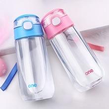 500 мл для питьевой Чашки бутылка для воды с каплей портативный бутылочку флип-крышкой Пластик leakproot бутылки молока для подарок для ребенка