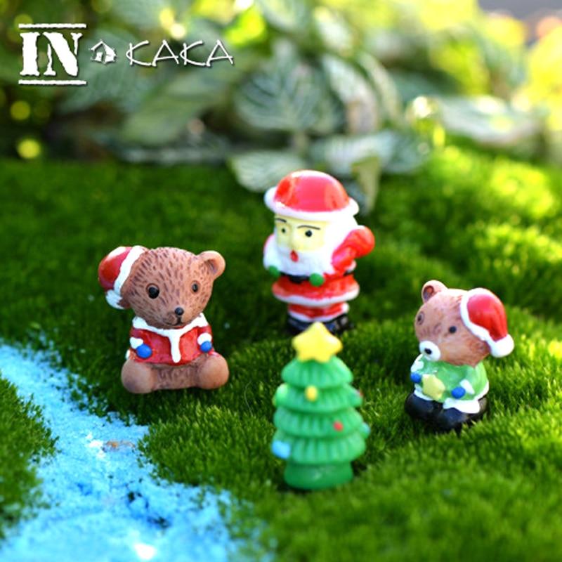 Mini cute christmas bear tree statuette anime action
