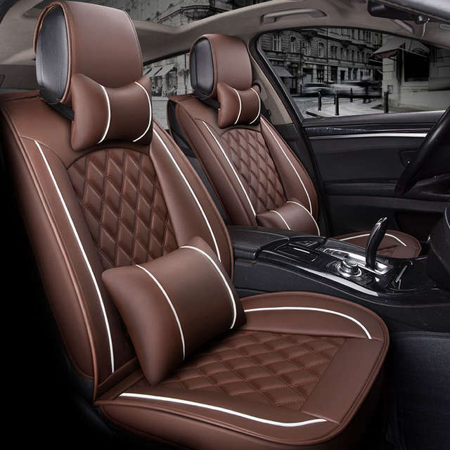 (Front +Rear) Special Leather Car Seat Cover