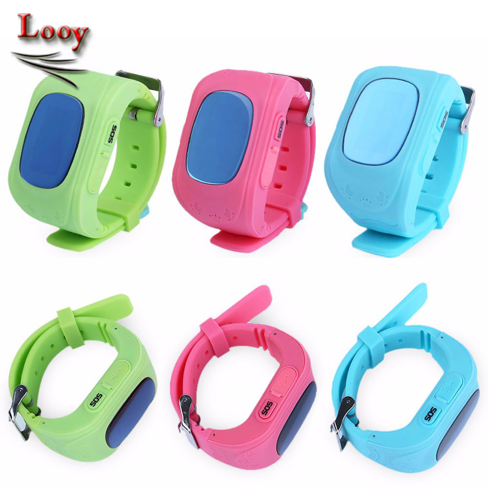 Maxinrytec Smart Kids GPS Watch Wristwatch SOS Call Location Finder Locator Tracker for Kids Child Anti Lost Baby Monitor Q50