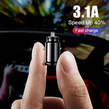ZNP Mini USB Car Charger For Mobile Phone Tablet GPS 3.1A Fa