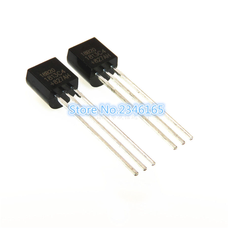 10PCS/LOT NEW ORIGINAL DS1820 TEMPERATURE SENSOR DS18S20 18 S20 BACK TO-92 free shippin 10pcs lot 79m12 to 252 l7912cv smd three terminal regulator ic 7912 new original