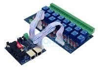 Бесплатная доставка 16ch реле DMX512 DMX контроллер, выходное реле, 16way реле (макс. 10A), высокого напряжения светодиодные фонари