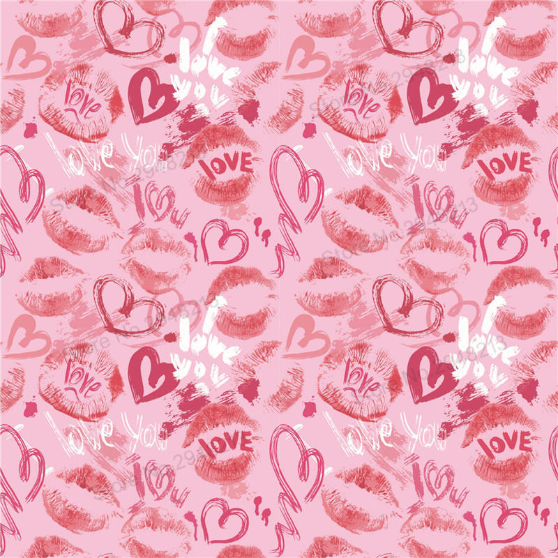 10 шт./лот Печатных Сердце Кожезаменитель ткань Vinly для День Святого Валентина волос лук сумки 20*34 см PPUL27