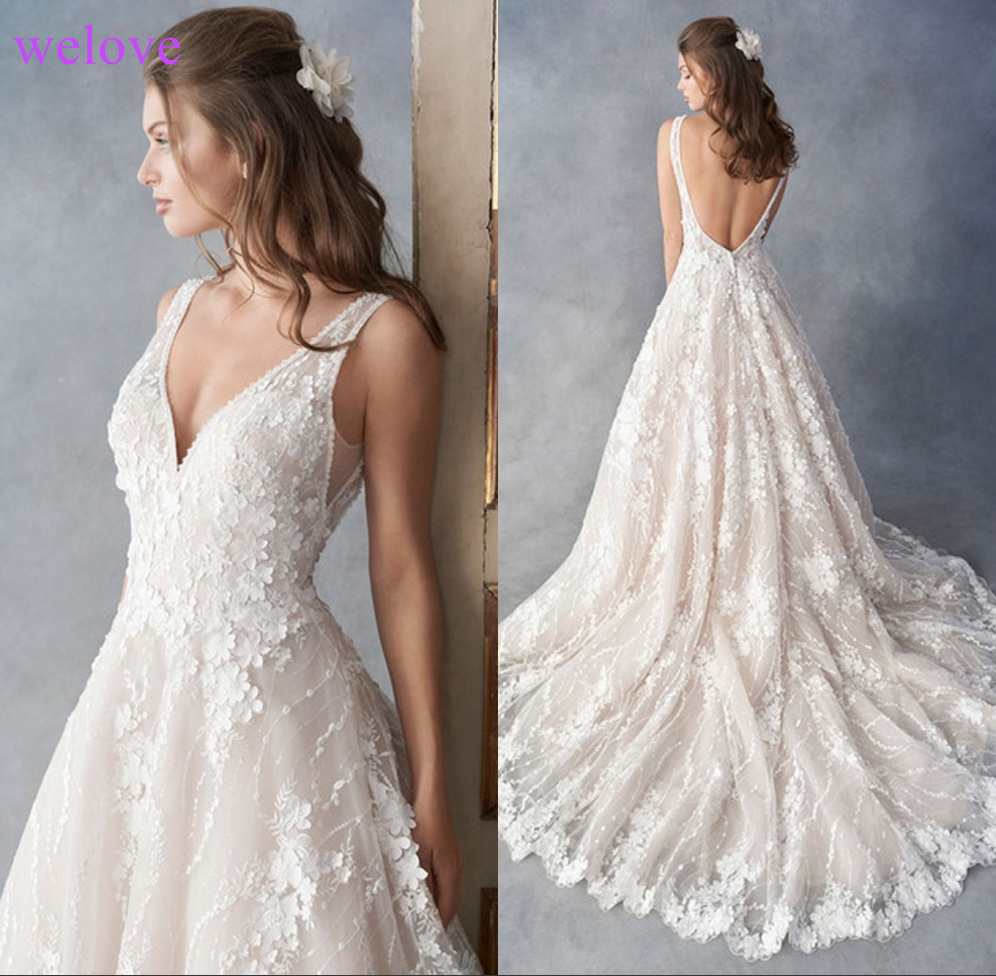 Customized Wedding Dress 2019 New Korean Style Handmade Wedding Gown Bridal Wedding Dress White Princess Bride Wedding Frocks