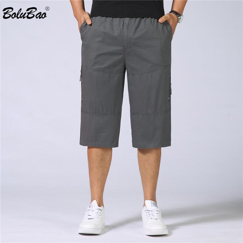 BOLUBAO Pocket Shorts Male 2018 Summer Men Baggy Multi Army Green Tactical Short Plus Size Military Cargo Shorts Men