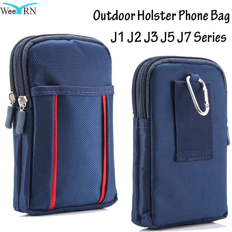 Sport Outdoor Belt Clip Phone Pouch Wallet Cover Holster for Samsung Galaxy J1 J2 J3 J5 J7 2016 2017 J5 Prime Case Phone Bag