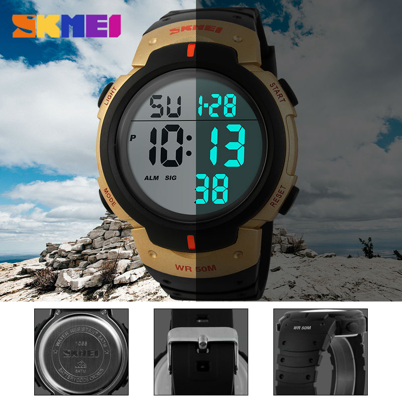 SKMEI Outdoor Sports Watch Män Big Dial Mode Digital Armbandsur - Herrklockor - Foto 6