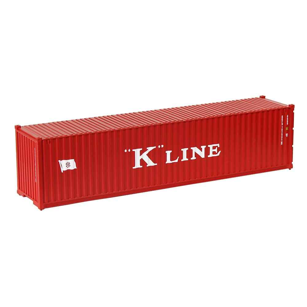 5pcs HO Scale 40 Foot Container 40ft Shipping Container Freight Car Wagon 1:87 C8746 Railway