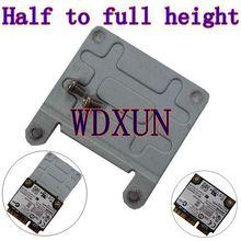 Mini PCI-E half-height to full-height metal frame wireless full size bracket racks full height card WIFI 3G dedicated card cheap RJ45 Network Panel WDXUN
